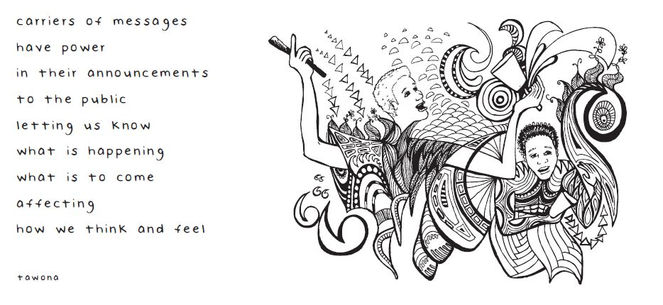 Image and poetry from BWBW colouring book