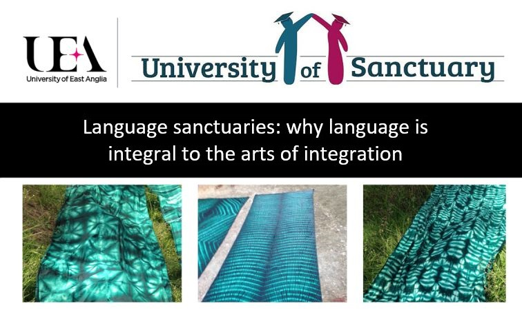 Poster UEA University of Sanctuary presentation by Prof Alison Phipps and team