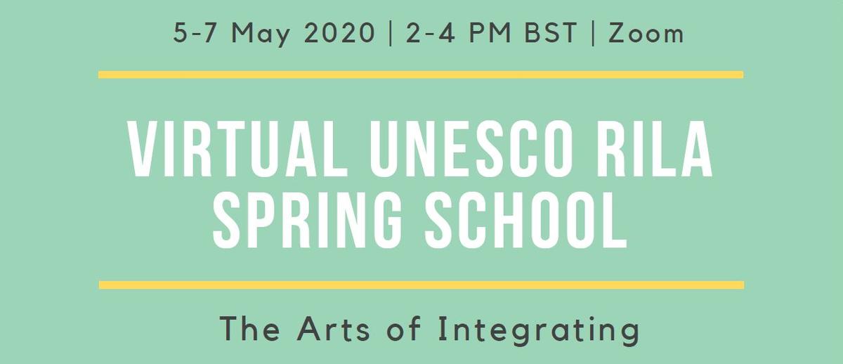 Virtual UNESCO RILA Spring School banner